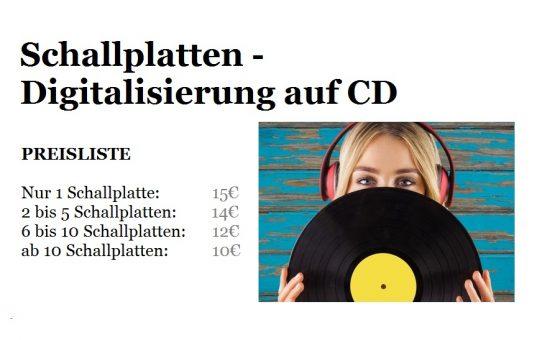 Schallplatten- Digitalisierung auf CD