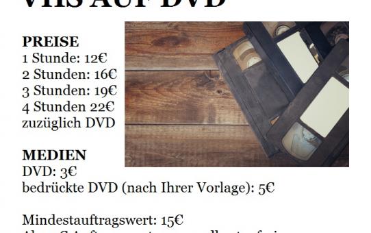 VHS TO DVD KONVERTIERUNG