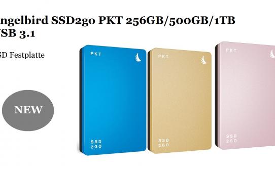 Angelbird SSD2go PKT 256GB/ 512GB 1 TB USB3.1